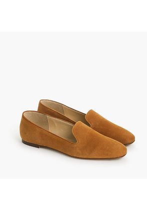 Suede smoking slippers
