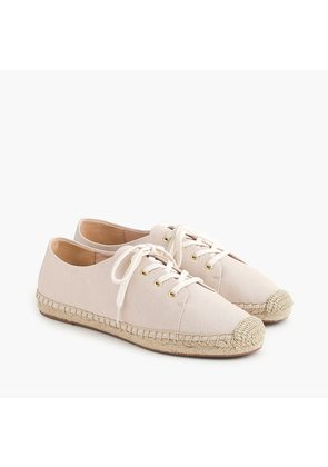 Lace-up espadrilles in blush