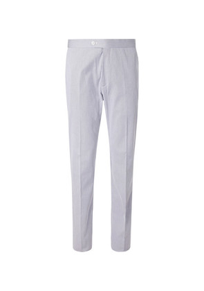 Striped Stretch-cotton Trousers