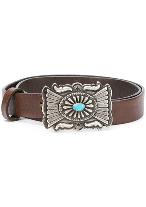 Polo Ralph Lauren embellished buckle belt - Brown