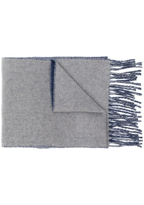 Polo Ralph Lauren two-tone fringed scarf - Blue
