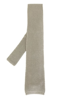 Tom Ford patterned knitted tie - Grey