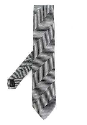 Tom Ford embroidered tie - Black