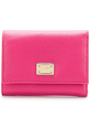 Dolce & Gabbana Dauphine compact wallet - Pink & Purple