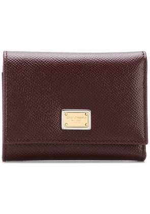 Dolce & Gabbana Dauphine trifold wallet - Red