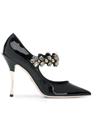 Dolce & Gabbana embellished Mary Jane heels - Black