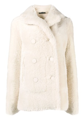 Joseph midi fur coat - White
