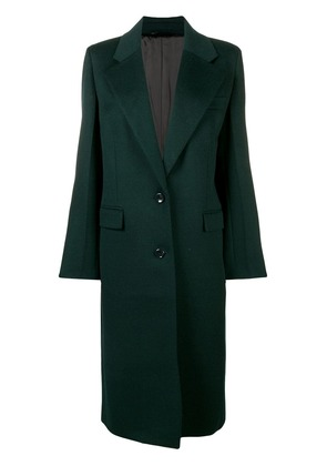 Joseph single-breasted long coat - Green