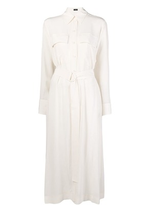 Joseph long shirt dress - White