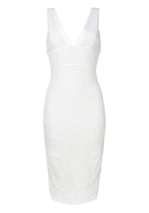 Victoria Beckham lace fitted dress - White