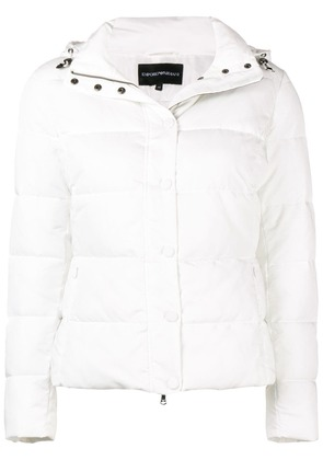 Emporio Armani fitted padded jacket - White