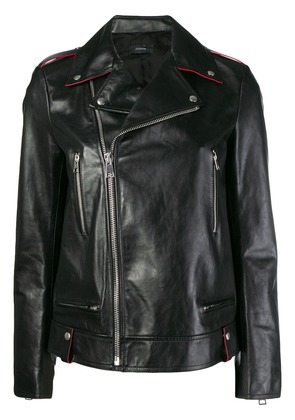 Joseph off-centre zipped jacket - Black
