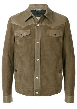 Lanvin two tone buttoned jacket - Green