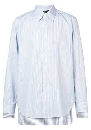 3.1 Phillip Lim Striped double-layered button-down shirt - Blue
