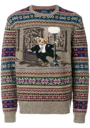 Polo Ralph Lauren The Iconic Bear isle sweater - Brown