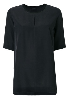 Joseph front slit shortsleeved blouse - Black
