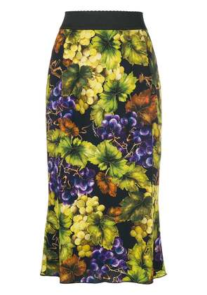 Dolce & Gabbana paneled printed fitted skirt - Yellow & Orange