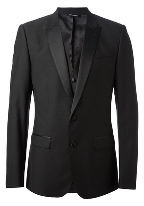 Dolce & Gabbana three-piece dinner suit - Black