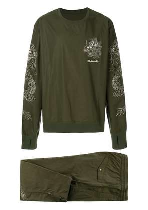 Maharishi embroidered track suit - Green