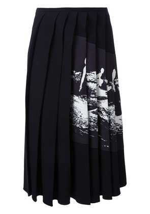 Victoria Beckham asymmetric pleat patch skirt - Black