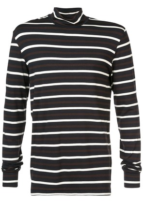 3.1 Phillip Lim Striped long-sleeve turtleneck T-shirt - Blue