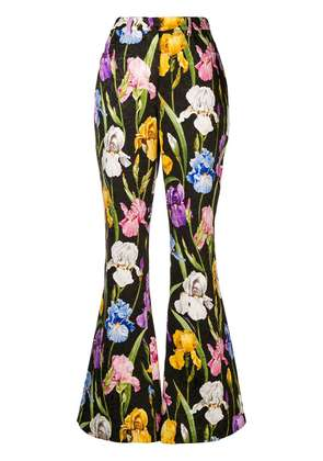 Dolce & Gabbana floral trousers - Black