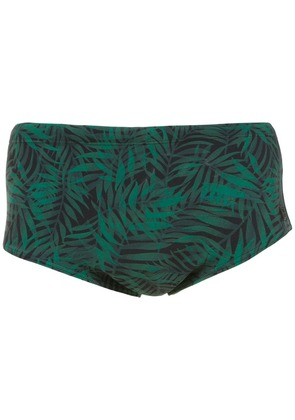 Track & Field printed swimming trunks - Green