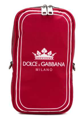 Dolce & Gabbana front logo backpack - Red