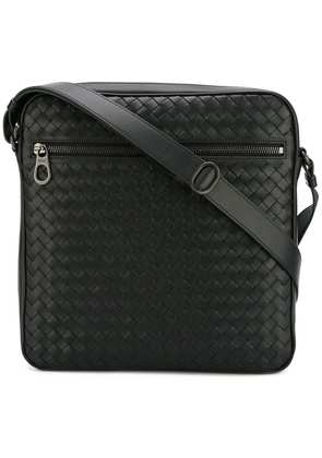 Bottega Veneta nero Intrecciato messenger bag - Black