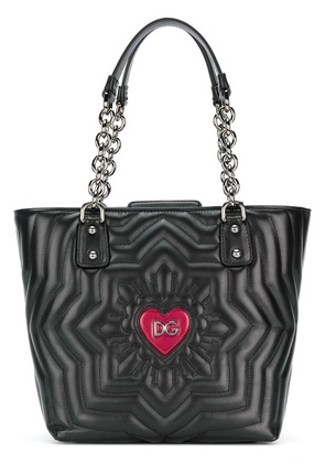 Dolce & Gabbana shopping quilted Love bag - Black