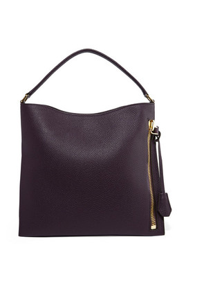 TOM FORD - Alix Small Textured-leather Tote - Grape