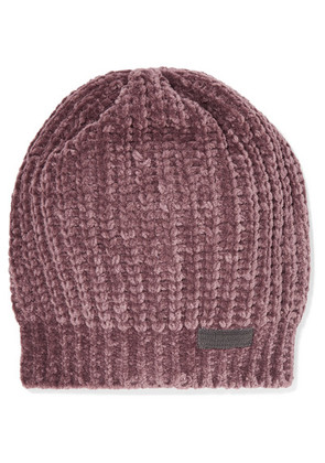 Brunello Cucinelli - Bead-embellished Ribbed Cashmere-blend Beanie - Antique rose