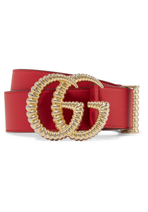 Gucci - Leather Belt - Red