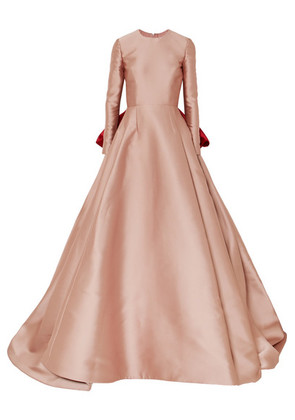 Reem Acra - Bow-detailed Satin Gown - Pink