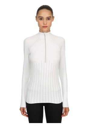 RAGLAN SLEEVE HALF ZIP TOP