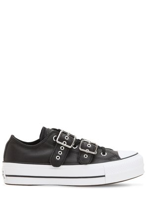 CHUCK TAYLOR OX BUCKLE LEATHER SNEAKERS