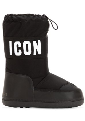 ICON NYLON & LEATHER SNOW BOOTS