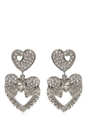 HEART & BOW CLIP-ON EARRINGS