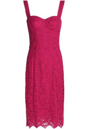 Dolce & Gabbana Woman Corded Lace Dress Magenta Size 40