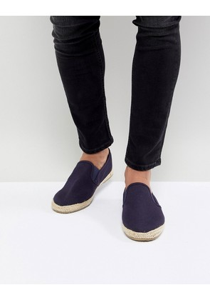 Brave Soul Espadrilles In Navy - Blue