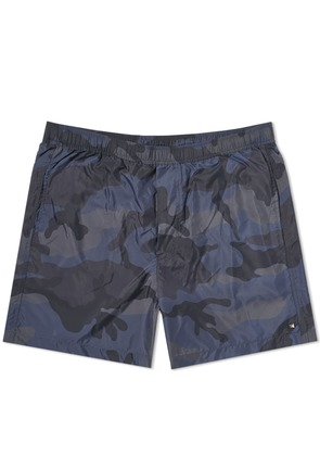 Valentino Camo Swim Short Black & Grey Camo
