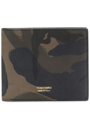 Tom Ford camouflage print billfold wallet - Green