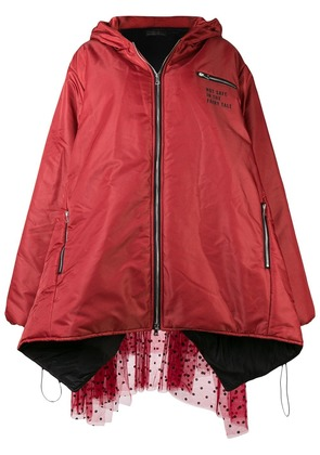 Barbara Bologna puffer elongated jacket - Red