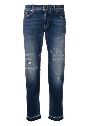 Dolce & Gabbana distressed skinny jeans - Blue