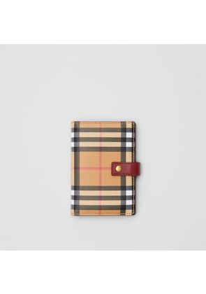 Burberry Vintage Check and Leather Folding Wallet, Red
