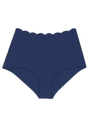 Marysia - Palm Springs Scalloped Bikini Briefs - Cobalt blue