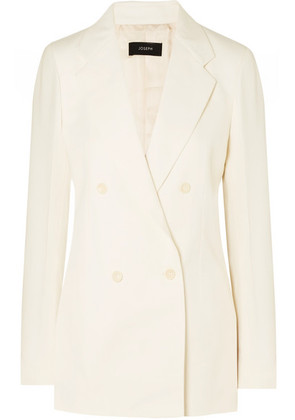 Joseph - Bailey Doubled-breasted Ramie And Cotton-blend Twill Blazer - Ecru