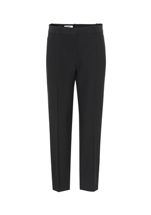Stretch wool-blend pants