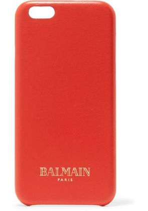 Balmain Woman Leather Iphone 6 Case Tomato Red Size -