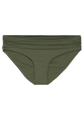 Melissa Odabash - Bel Air Ruched Bikini Briefs - Army green